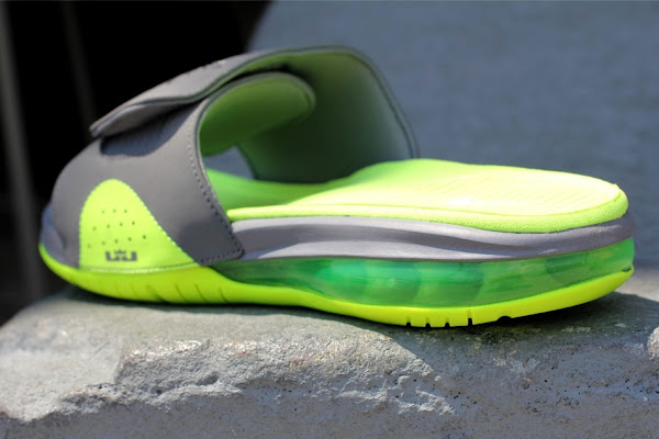 Nike Air LeBron Slide 487332007 Cool Grey  Volt