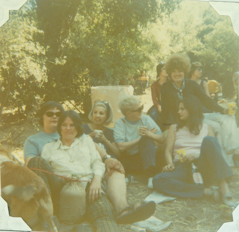 Carolyn Weathers (front) with others at Renaissance Pleasure Faire. Spring 1970