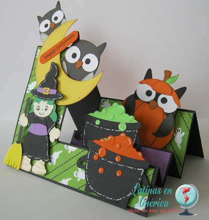 Brewing Beauties - Kadoodlebug Designs - Halloween Card - Step side card - Latinas en America - Ruthie Lopez DT 2