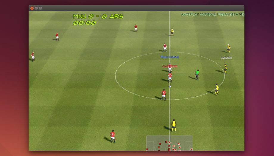 Gameplay Football in Ubuntu