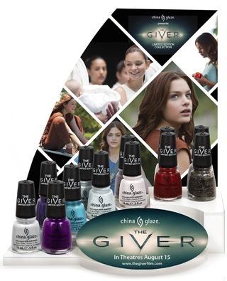 China Glaze The Giver Display