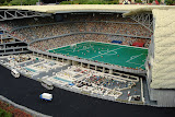 The Allianz Arena - the largest Lego creation in the world - 5 meters across, 1 meter high, 1.5 tons