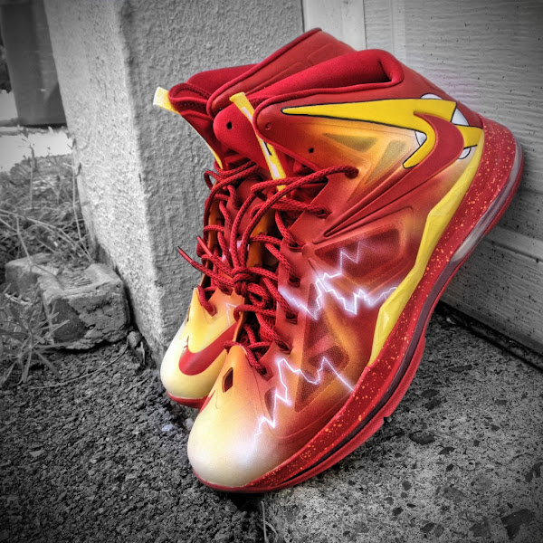 Nike LeBron X 8220The Flash8221 by Mache Custom Kicks