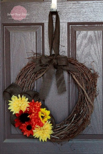 simple easy fall wreath craft