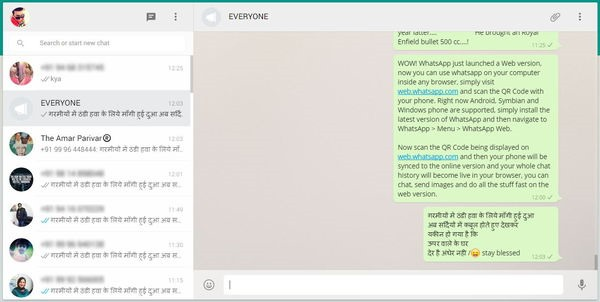 whatsapp web running live