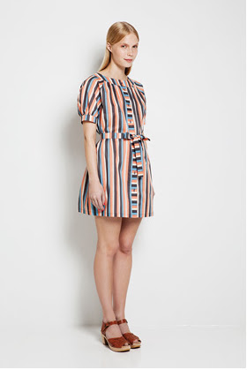 Kieputus.  I love the colors and playful stripes on this dress.