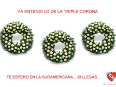 cargadas a boca triple corona de flores independiente