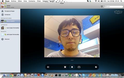 Videomensajes con Skype