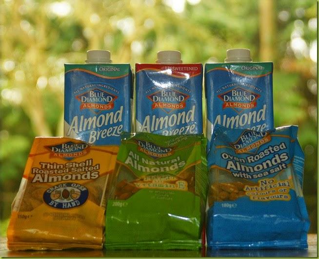 Diamond Breeze Almonds and almond milk