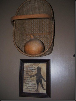 basket with gourd