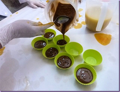 Rellenando las cupcake