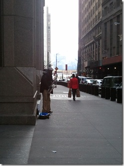 Saxophonist on Wall St