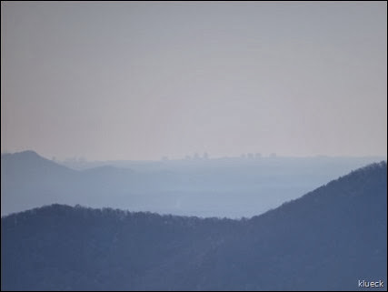 Atlanta skyline from Brasstown Bald