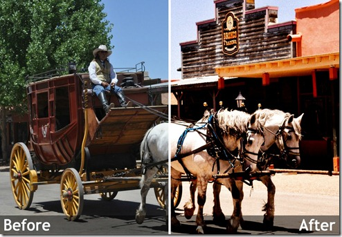 Stagecoach beforeafter