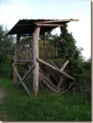 Ingestorte uitkijktoren