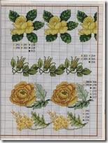 flores amarillas punto de cruz (2)