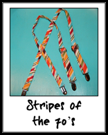 stripes of the 70's suspender