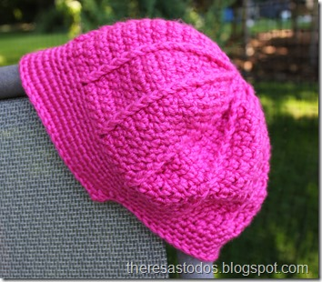 Pink Crocheted Visor Hat