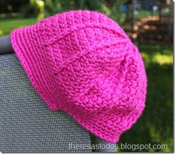 Pink Crocheted Visor Hat