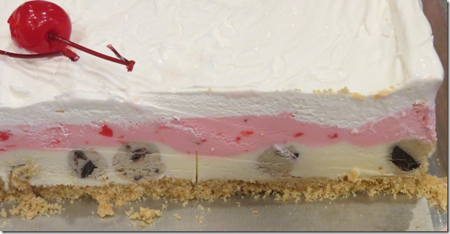 Cookie Dough Maraschino Cherry Ice Cream Cake 2