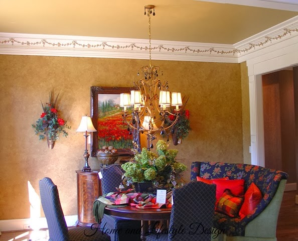3203 Springhill DR Walls and Chandelier
