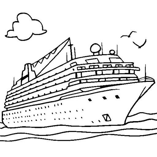 Crucero para colorear - Imagui
