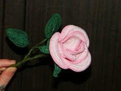 Horgolt rózsa