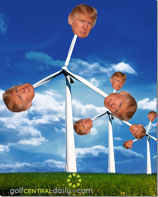 Donald Trump Wind Turbine Funny Pic