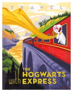 HP travel poster by caroline hadilaksono