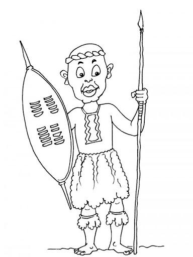 Dibujos africanos para niños para colorear - Imagui