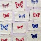 Papillons sur tissus