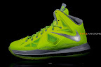 nike lebron 10 gr atomic volt dunkman 2 01 Upcoming Nike LeBron X   Volt Dunkman   New Photos