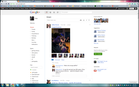 My Google+ Page