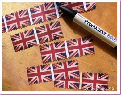 Union Jack cake pick