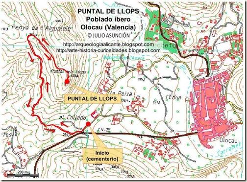 Mapa ruta Puntal de Llops