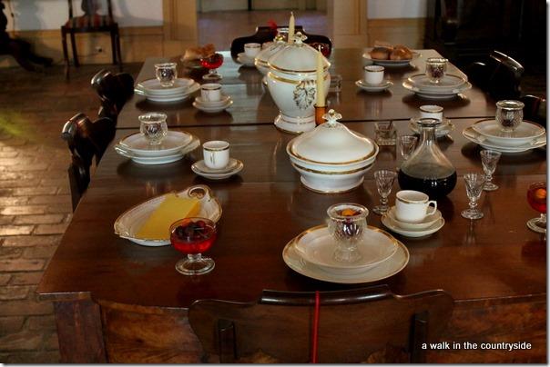 destrehan plantation - the dining room