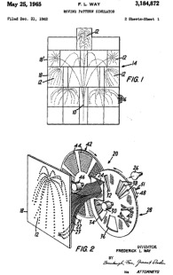 Moving Pattern Simulator patent, number 3,184,872