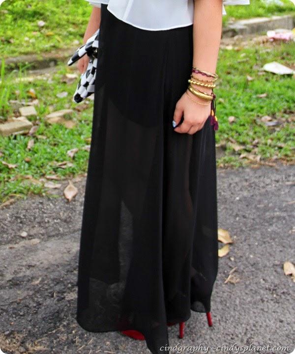 Black maxi Skirt12