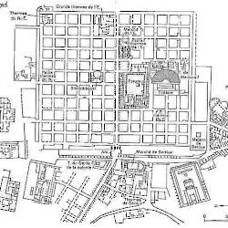 19 - Plano de la Ciudad romana de Timgad (Tunez)