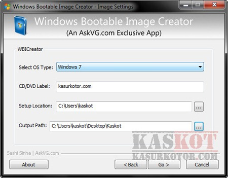 Membuat Bootable ISO utk Windows XP, Vista and Windows 7 – Windows Image Bootable Creator