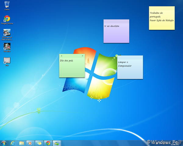 Windows 7 - Notas autoadesivas