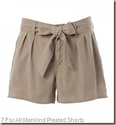 7 For All Mankind Pleated Shorts With Bow Belt