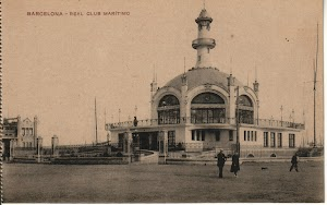 Vista desde el muelle de Barcelona del Palacio de la Nautica. Foto Flickr. Colección Jordipostales