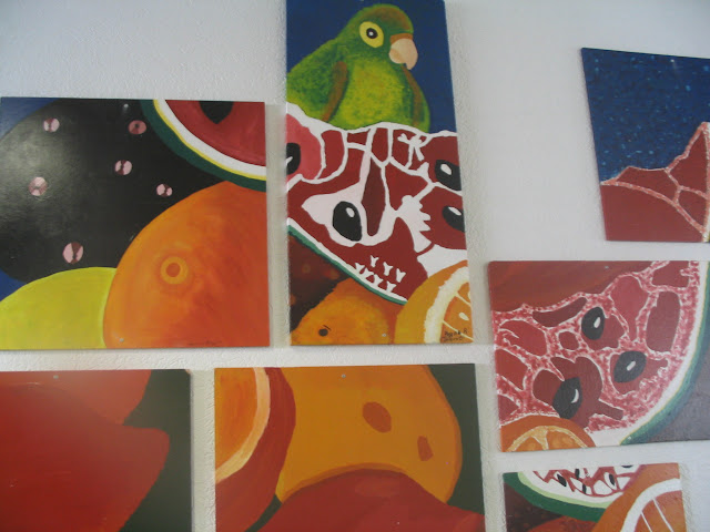 Frida Kahlo - Stillleben - Klassenprojekt einer 8. Klasse, Malerische Umsetzung mit Acrylfarbe