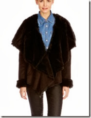 oasis faux shearling drape jacket
