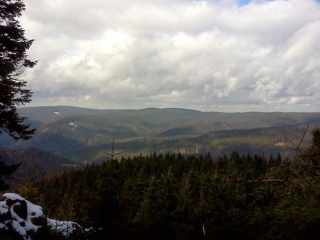 Výhled ze Špičáku - výška 991 m. n. m.