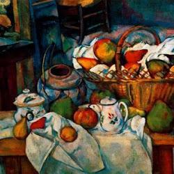 Paul Cezanne (1888-1890): Naturaleza muerta con cesto. Museo de Orsay. París. Postimpresionismo
