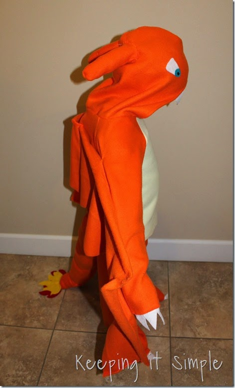 DIY Pokemon Charizard Costume (9)