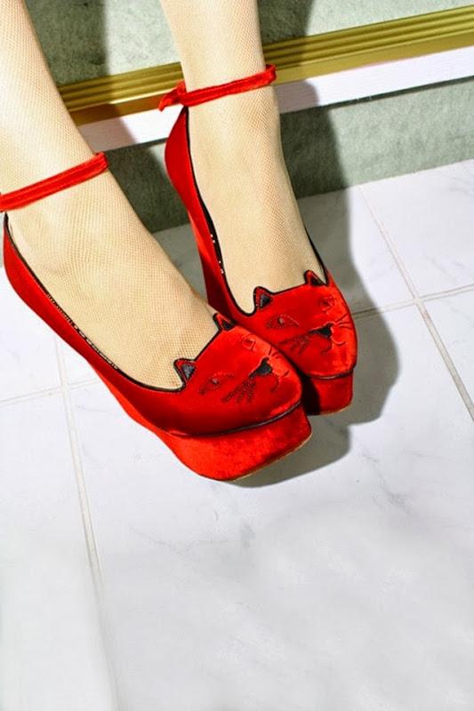 charlotte-olympia-red-kitten-heels