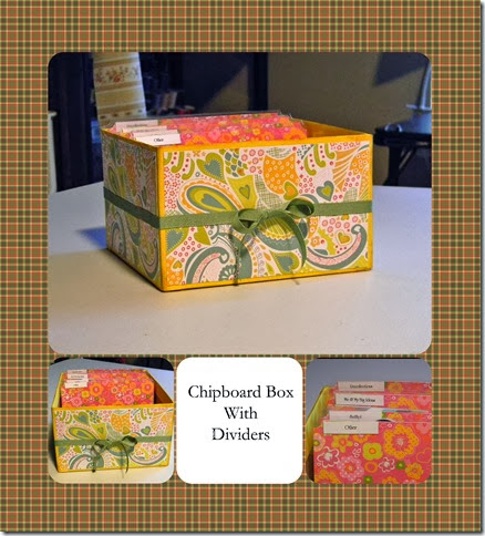 Chipboard Box Collage